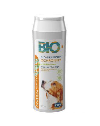 Pess Bio-Szampon Ochronny 200ml - przeciw pchłom i kleszczom,  do problematycznej skóry, z olejkiem neem
