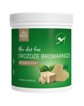 Pokusa RawDiet Brewer`s Yeasts -  suszone drożdże browarnicze, suplement diety poprawiający kondycję układu nerwowego, odpornościowego oraz skóry i sierści