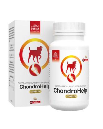 Pokusa Chondro Help 120tbl. - preparat wspomagający pracę układu kostno-stawowego u psów