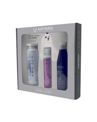 Artero Cosmetic Pack Maltese - zestaw kosmetyków dla ras o białym i jasnym umaszczeniu