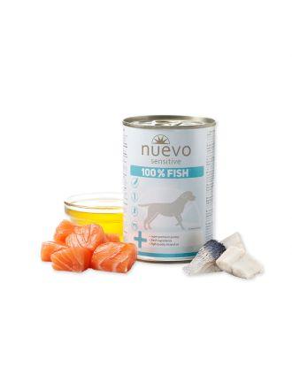 Nuevo Sensitive 100% Fish - monoproteinowa, mokra karma dla psa, 100% Ryb, 375g