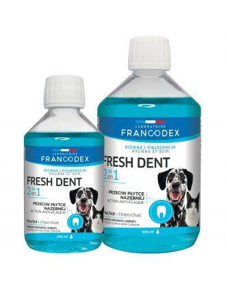 Francodex Fresh Dent 2w1 - płyn do higieny jamy ustnej psów i kotów, z wyciągiem z granatu