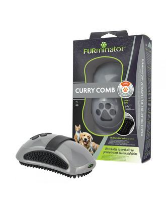 FURminator Curry Comb - gumowe zgrzebło do masażu i wyczesywania, dla ras krótkowłosych