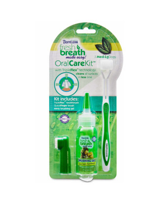 Tropiclean Oral Care Kit - zestaw do czyszczenia zębów dla ras średnich i dużych