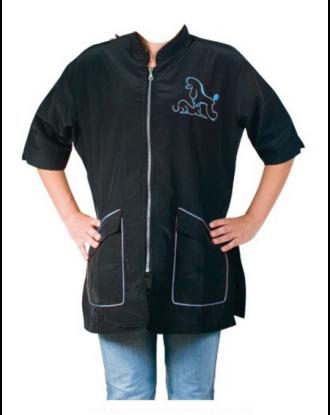 Chadog Letizia - bluza groomerska z niebieskim wykończeniem